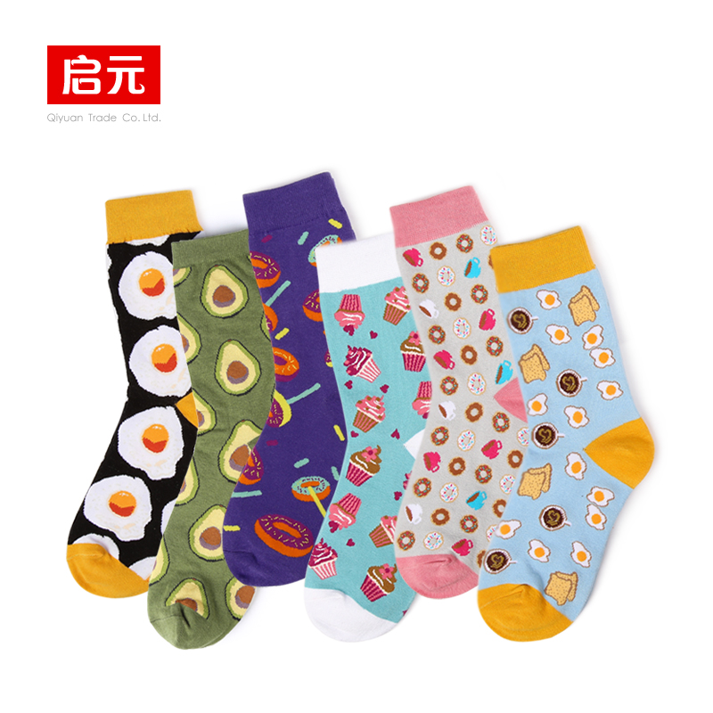 VVQI Autumnwinter Socks Woman Korean Style Long Socks Harajuku Japan Cute Socks Avocado  Ice Cream Funny Socks Gift Box Novelty