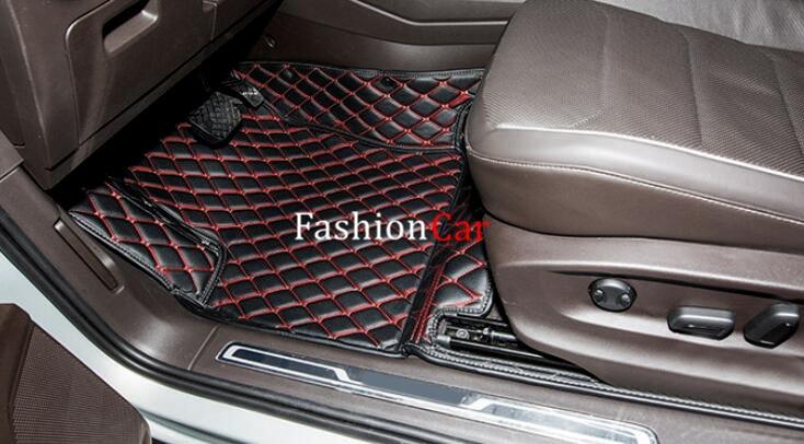 For Volkswagen Tiguan 2nd Gen 2016 2017 Left hand drive Black Color Car Floor Mat car rear trunk security shield cargo cover for volkswagen vw tiguan 2016 2017 2018 high qualit black beige auto accessories