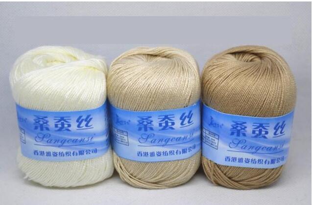 Knitting Yarn Aliexpress : Pc g mulberry silk thread hand knitting yarn crochet