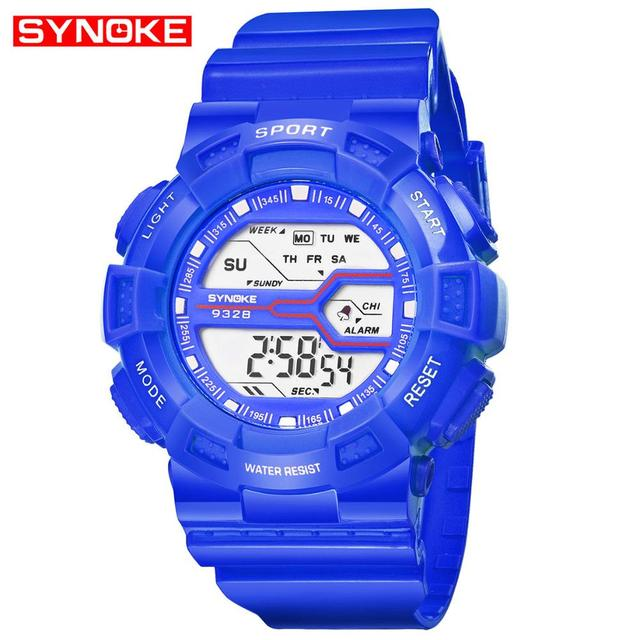 SYNOKE Children Sports Watches Fashion LED Quartz Digital Watch Boys Girls Kids