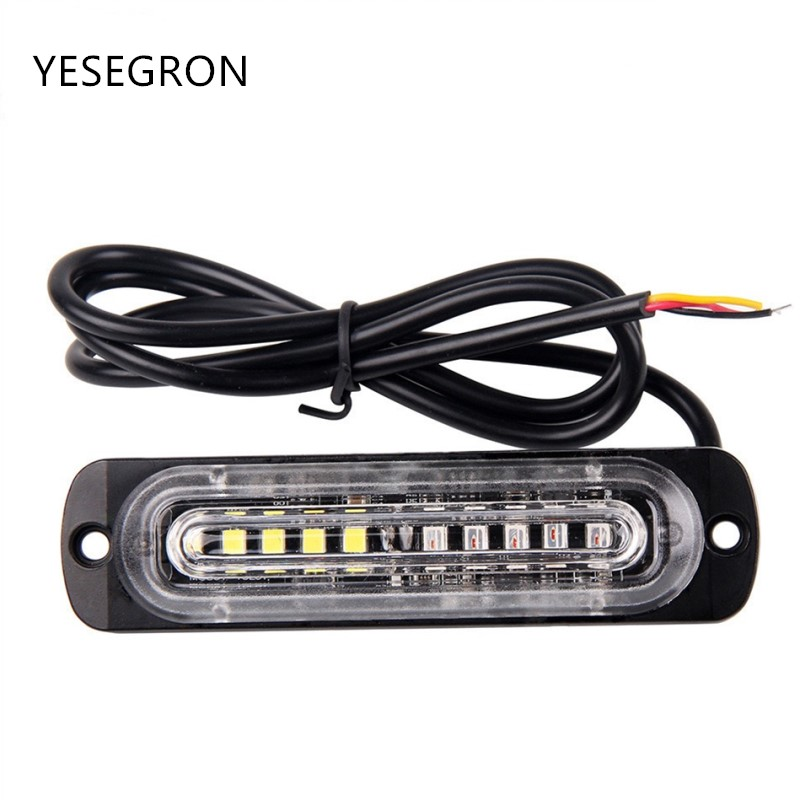 Car Lights Yituancar 2x 12 Led Strobe Flash Warning Light Car Styling White Red Blue Fireman Police Emergency Front Grille Deck Fog Lamps