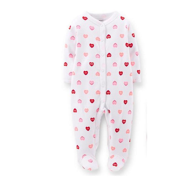 Oneasy 2016 Bebé Macacão Fantasias Infantil Recém-nascidos Romper Pé Do Bebê Da Menina Pijama terno Sleepwear Macacão de Recém-nascidos para o Todd
