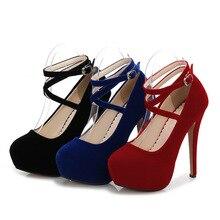 2018 sexy women pumps bottom high heels platform shoes ladies wedding shoes bride chaussure femme talon 35-46 14cm heels MC-45