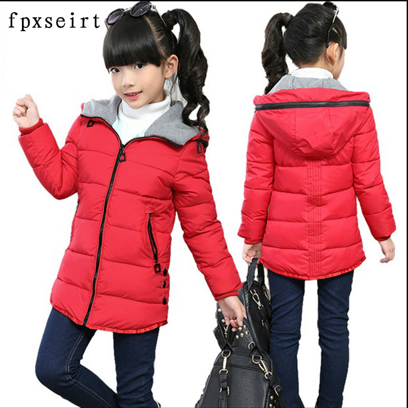 long jacket Girl Spring Jackets for girls winter coat fashion children clothing Kids Hooded Coat Thicken cotton-padded jacket winter jacket men warm coat mens casual hooded cotton jackets brand new handsome outwear padded parka plus size xxxl y1105 142f