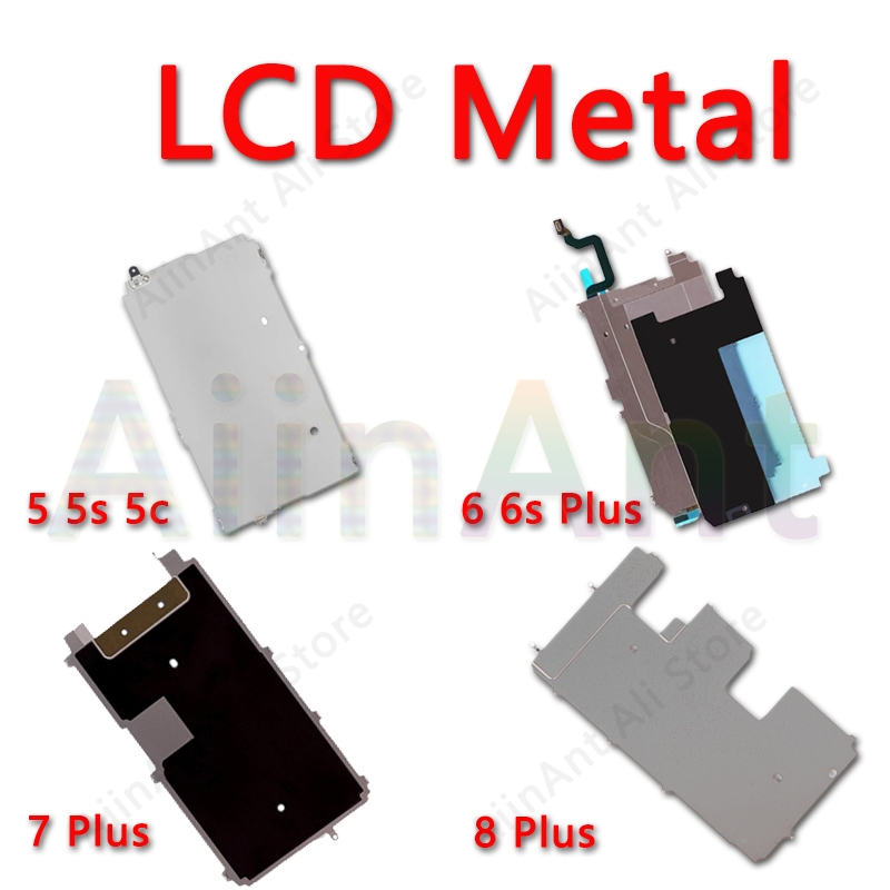 For IPhone 5 5s 5c 6 6s 7 8 Plus LCD Display Screen Holding Back Metal Plate Protector Baffle Bezel Backplate Home Extend Flex