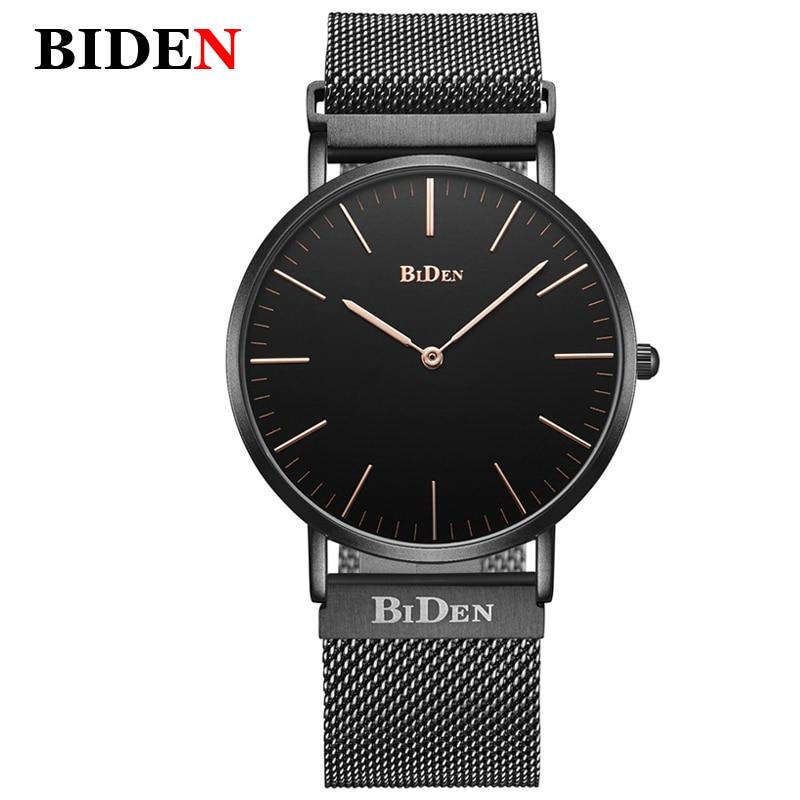 BIDEN Fashion Luxury Brand Watch Men Milanese Loop Stainless Steel Mesh Milanese Loop Strap Men's Watches milanese loop page 3