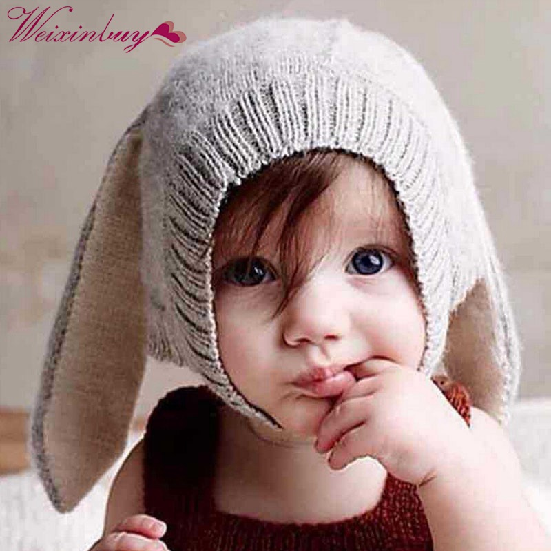 Weixinbuy Autumn Winter Baby Warm Lovely Shawl Children Rabbit Ears Wool Collar Head Circumference Hat S2 Boys' Baby Clothing Mother & Kids