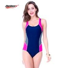 2017 Swimwear Women Sports One Piece Sexy Beach Bodysuit Plus Size Woman Wire Free Solid Bikini Body Building Swimsuit badpak