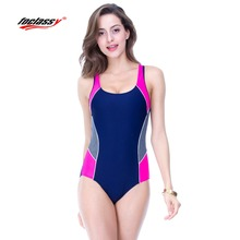 2017 Swimwear Women Sports One Piece Sexy Beach Bodysuit Plus Size Woman Wire Free Solid Bikini Body Building Swimsuit badpak