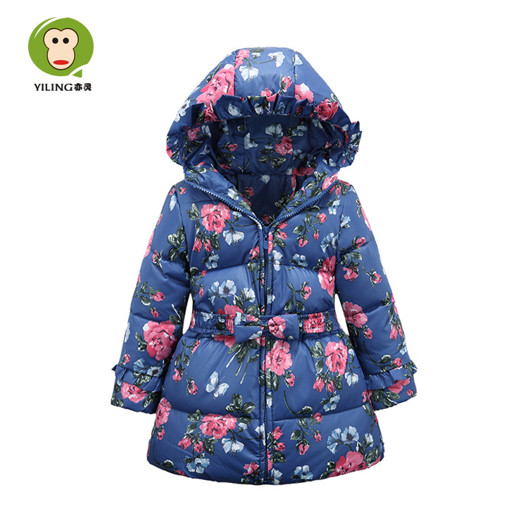 New Children Winter Warm Duck Down Jacket For Girls Long Section ...