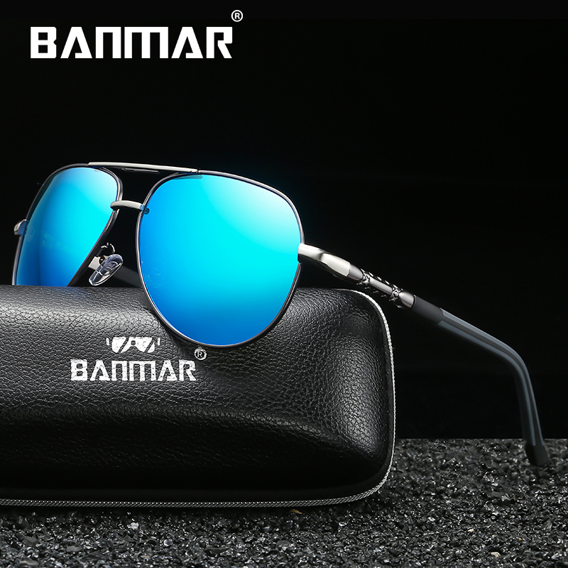 BANMAR Aluminum Magnesium Mens Sunglasses Polarized Coating Mirror Fashion Glasses Male Eyewear Accessories For Men Oculos