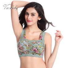 Varsbaby seamless Lace underwear wire free floral vest full cup bra for women BCD Cup