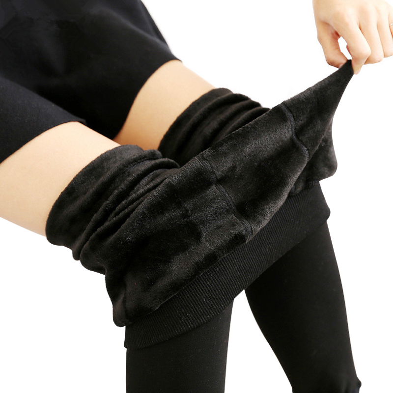 NORMOV Legging Femme Winter Leggings Frauen Warme Samt Hosen Leggins Hohe Taille Dicke Legging Winter Hose Hose Frauen