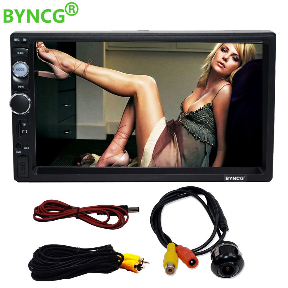 BYNCG Autoradio 2 Din Auto Radio Doppel MP5 Player Touch Screen Panel FM USB AUX Bluetooth mit Rückansicht Kamera 13 modell Wählen