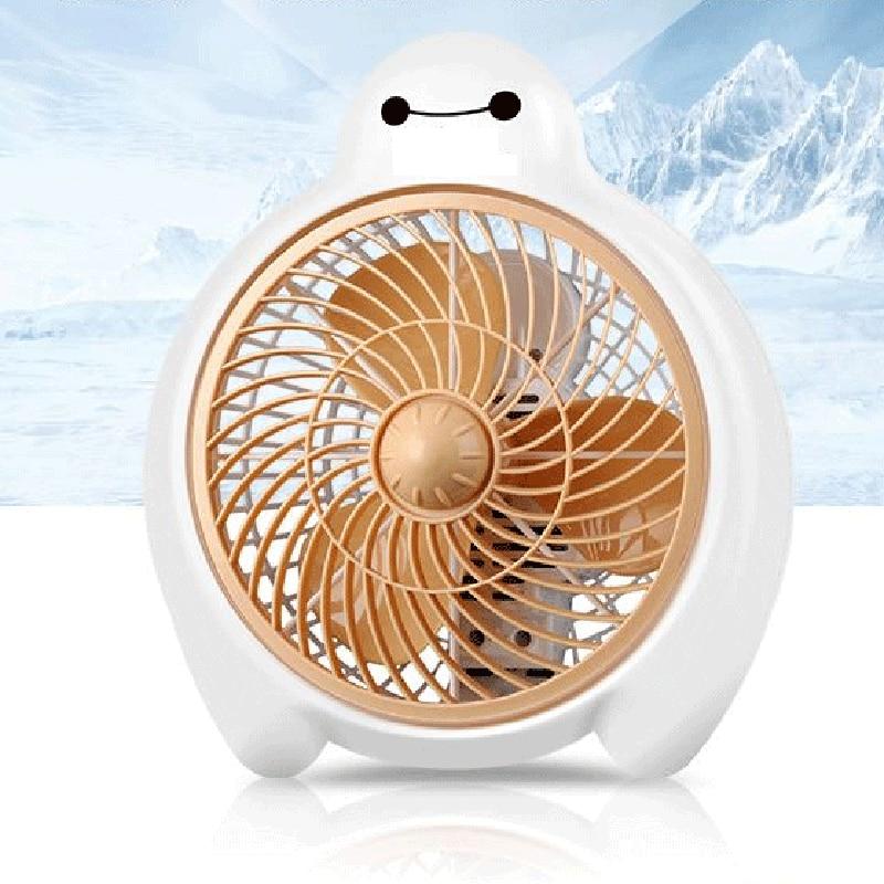 все цены на Mini Cooling Fan 2 Gear Speed 220V Ventilador Cute Baymax Electric fan
