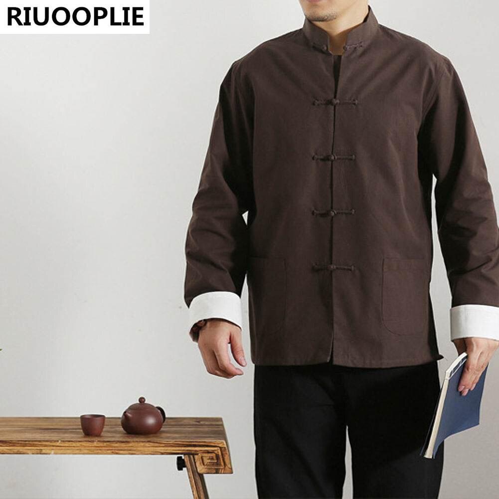 RIUOOPLIE långärmad dubbelsidig traditionell kinesisk kläder Tang - Nationella kläder - Foto 4