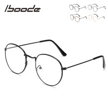 Iboode-gafas de lectura redondas y de Metal para hombre y mujer, anteojos de lectura Unisex con marco dorado, negro y plateado + 1,0, 1,5, 2,0, 2,5, 3,0, 3,5, 4