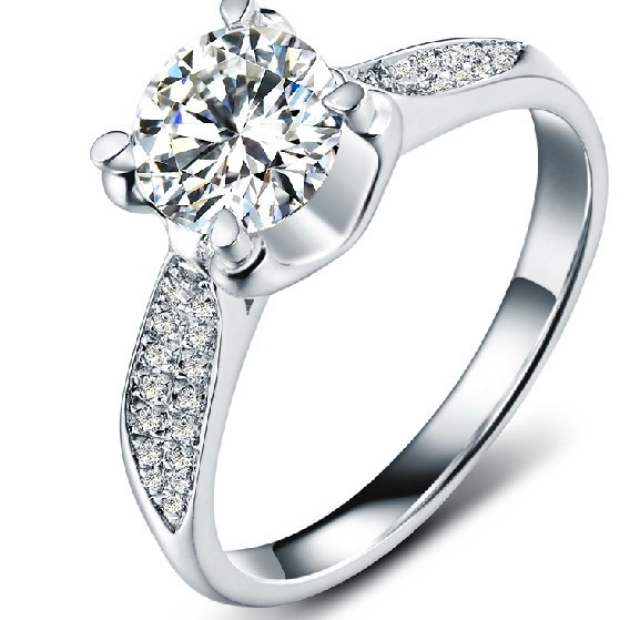 c1fd477770c 1 CT Luxury Design SONA Diamond Engagement Ring 18K White Gold Plated Women Wedding  Ring Fantastic