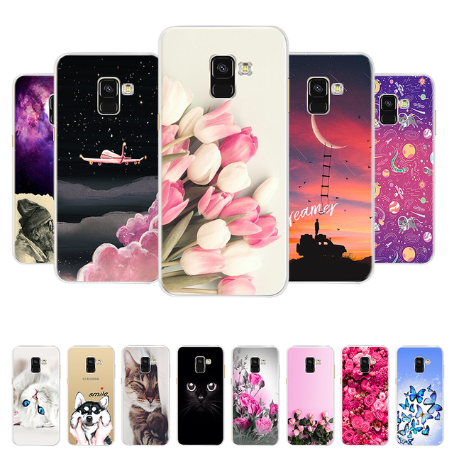 best website 646c1 776e6 US $0.84 20% OFF|Case for Samsung Galaxy A8 2018 Case Cover On Samsung A8  Cover Soft Silicone Coque for Samsung Galaxy A8 2018 A530F Phone Cases-in  ...