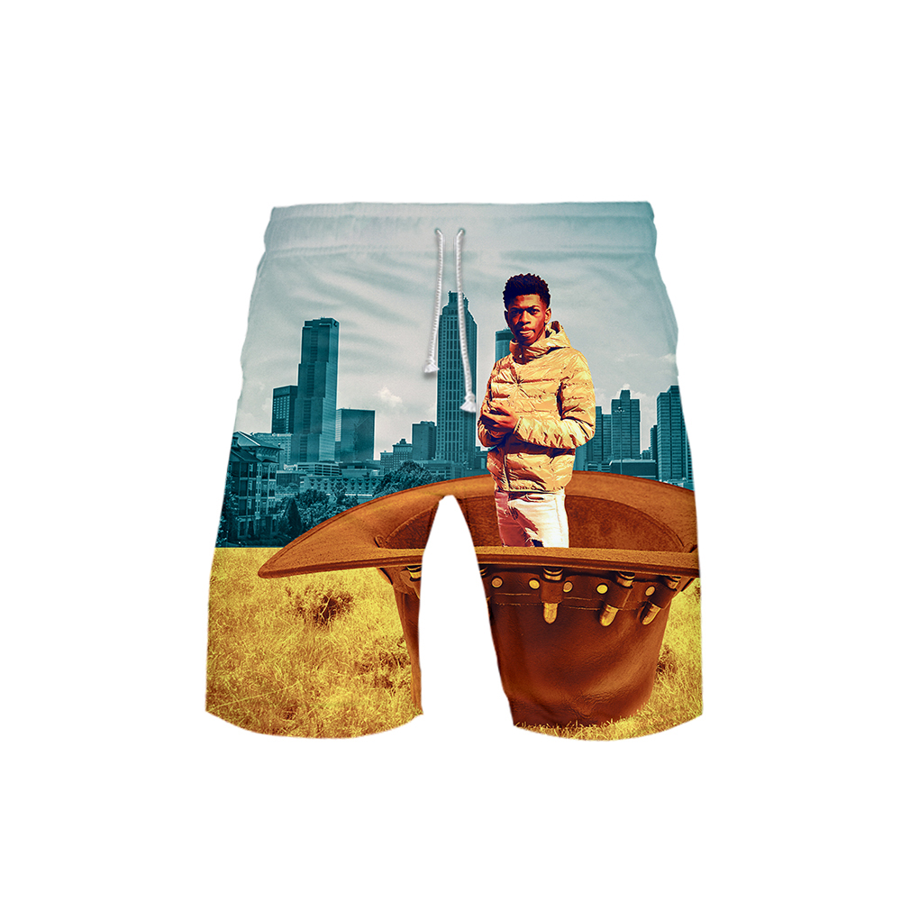 United States Rapper Lil Nas X 3D Style Summer Men Fashion Leisure Trend Shorts 2019 New Kpop Popular  Casual Summer Shorts