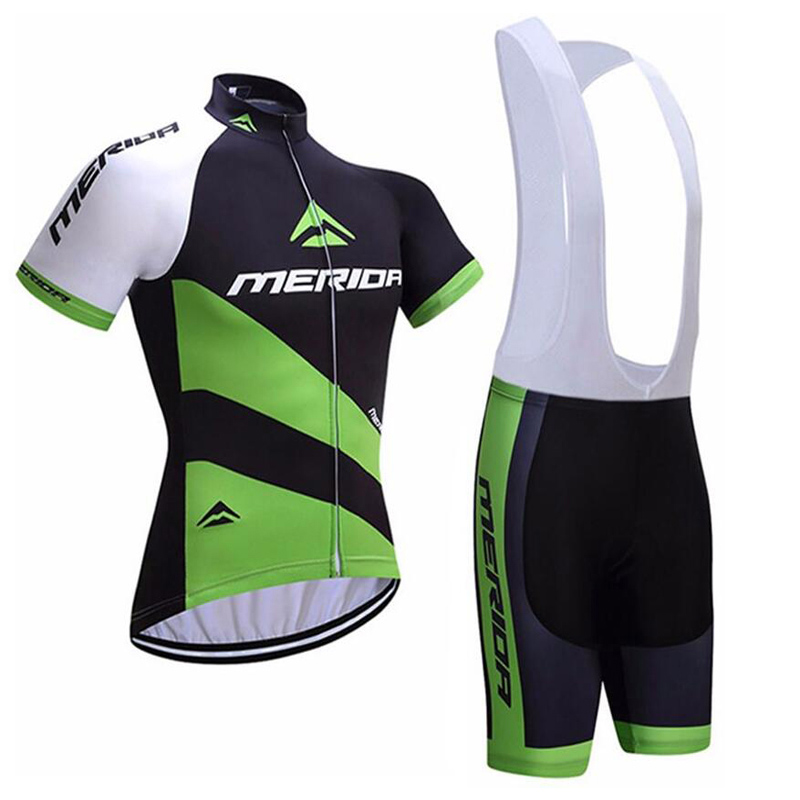 Quick Dry MERIDA TEAM Bicycle Shirt Pro Maillo Riding Cycling Jersey Clothes BICYCLING Maillot Culotte Gel Breacthable Pad