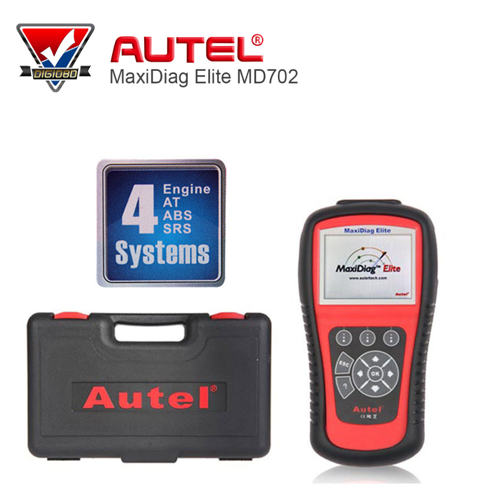 Aliexpress com buy autel maxidiag elite md702 4 system ds model obdii code reader md 702 engine transmission abs airbag for europe vehicles from