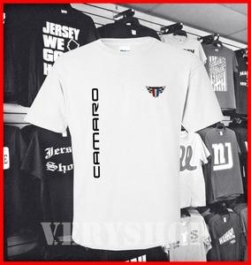 Image 2 - Chevy_Camaro โลโก้ Mens เสื้อผ้าเสื้อยืด 2019 แฟชั่นแขนสั้นเสื้อยืดสีดำ 100% Cotton Casual TEE เสื้อ