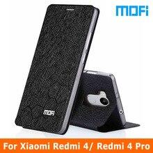 Xiaomi Redmi 4 чехол оригинальный бренд Mofi Xiaomi Redmi 4 Pro Чехол Флип кожаный чехол + ТПУ мягкий чехол для Xiaomi redmi4 случаях 5.0″