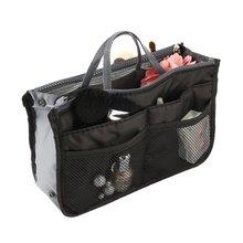 Полиэфирная косметичка с двойной молнией, портативные дорожные сумки, косметичка для макияжа, косметички с ручкой в комплекте
