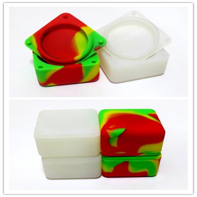 37ml Square Shape Silicone jars container for wax silicone jars container electronic cigarette dab Silicon Box