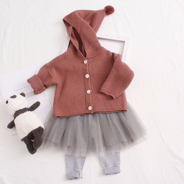 13442ec5219b 2018 Baby Girl Sweater Kids Hooded Cardigan Spring Sweaters Children ...