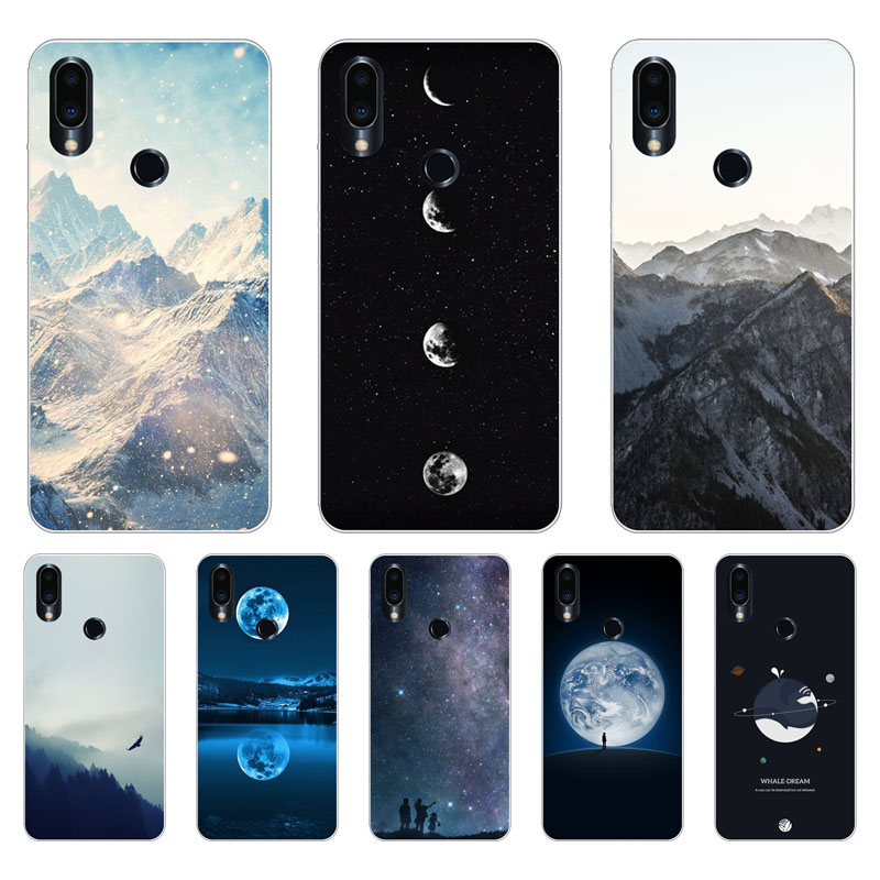 Meizu note 9 Case,Silicon scenery Painting Soft TPU Back Cover for Meizu note9 protect Phone cases shell
