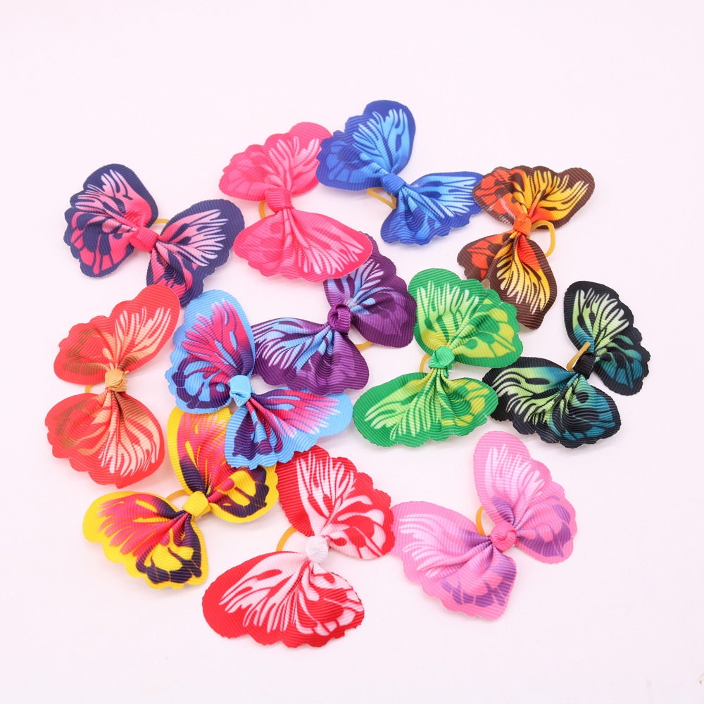 100X font b Pet b font Dog Cat Hair Bows Butterfly for Puppy Small Dog Yorkshire