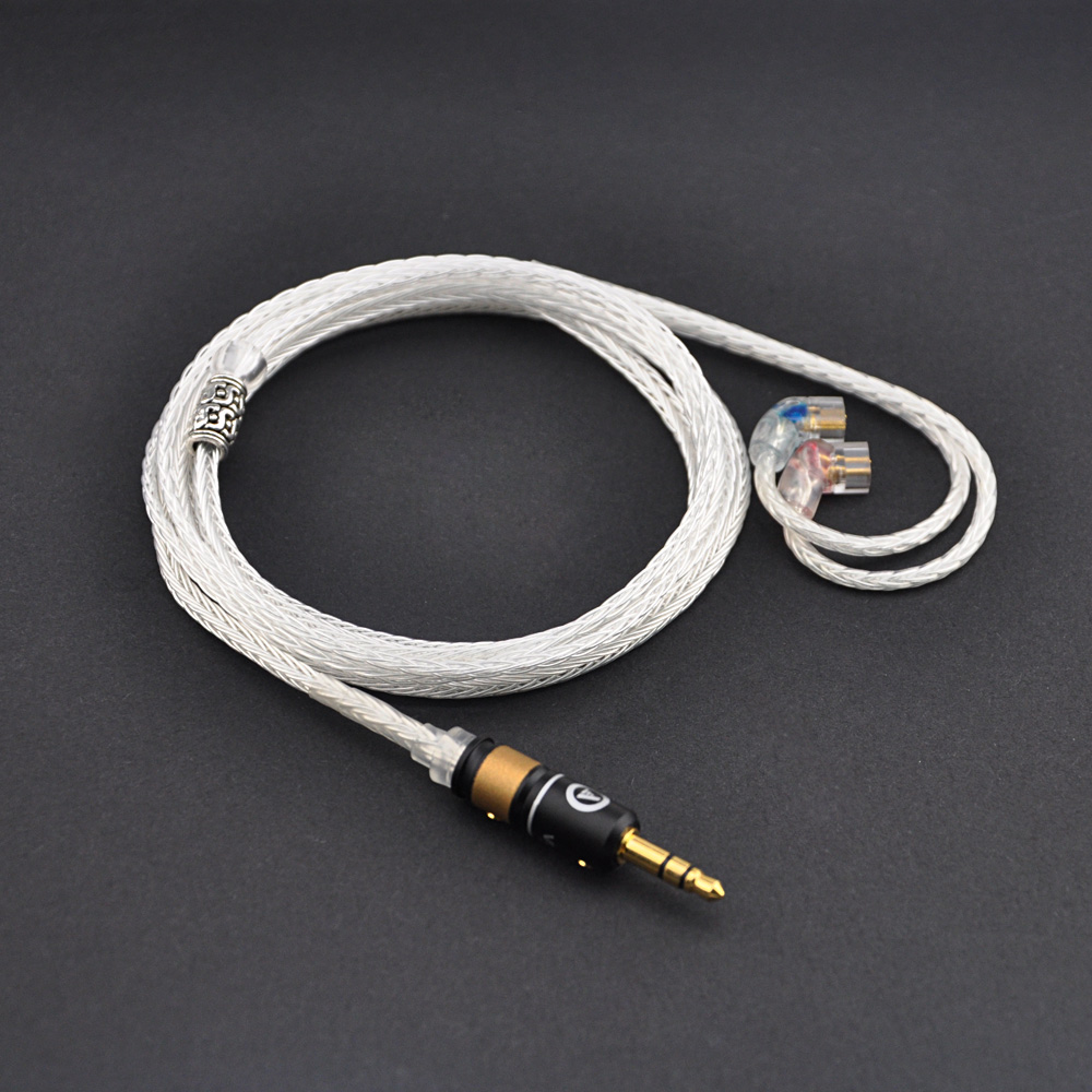 New QDC Upgrade Cable 2.5mm/3.5mm Silver Plated Earphone Cable Wire For QDC Connector In-ear Earphones Cable mes demoiselles бежевая туника