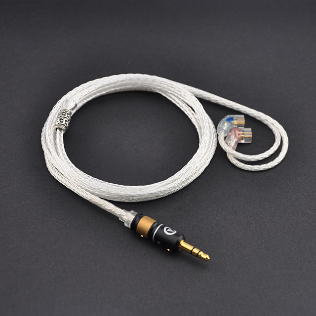 New Qdc Upgrade Cable 2 5mm 3 5mm Silver Plated Earphone