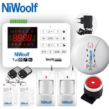 NEW NiWoolf GSM Alarm System VIP Buyer Price Home Alarm Security System Door Detector Infrared Detector Touch Keyboard 433MHz