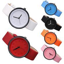 Couples Solid Color Arabic Numerals Round Dial Cloth Band Analog Quartz Watch Al