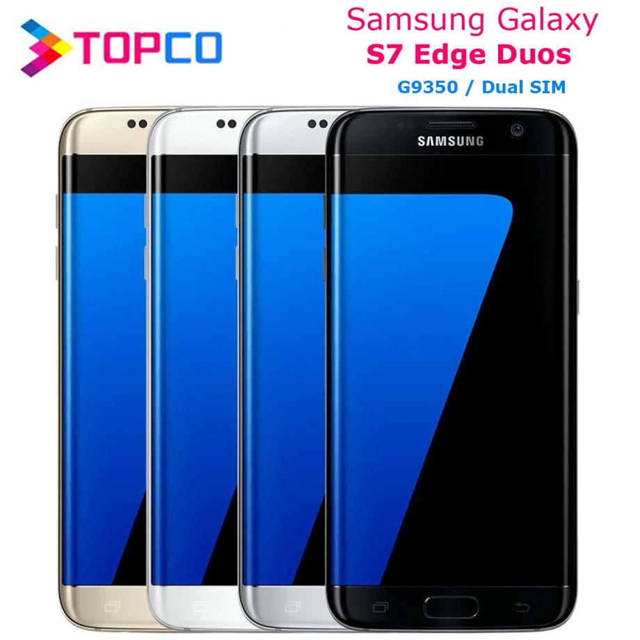 Samsung Galaxy S7 edge Duos G9350 Dual Sim Оригинальный разблокированный LTE Android мобильный телефон Восьмиядерный 5,5
