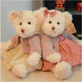 30 cm Sister Teddy Bear With Dresses Stuffed Animal Toy High Quality Valentine Gift