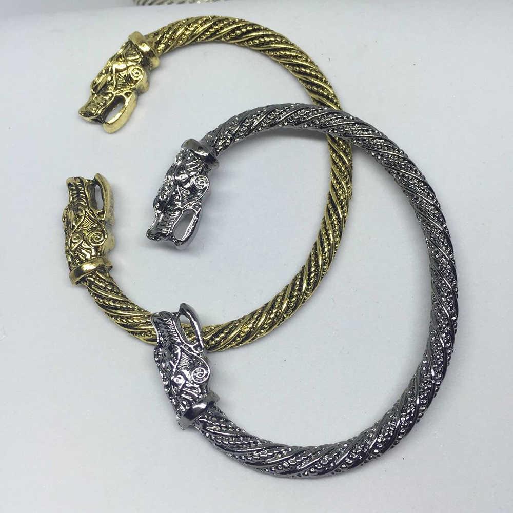 Men Wolf Heads Viking Bracelets Indian Jewellery Fashion Accessories Women Wristband Cuff Bracelet Jewelry Vintage Retro Classic