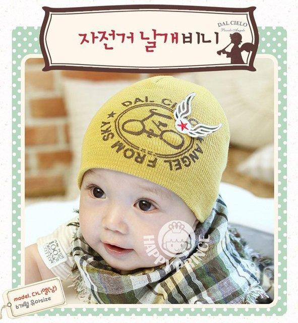 Wholesale 10pcs cute wings baby cap Kids hats Cotton Beanie Infant hat  children baby Hat 8237b637d31