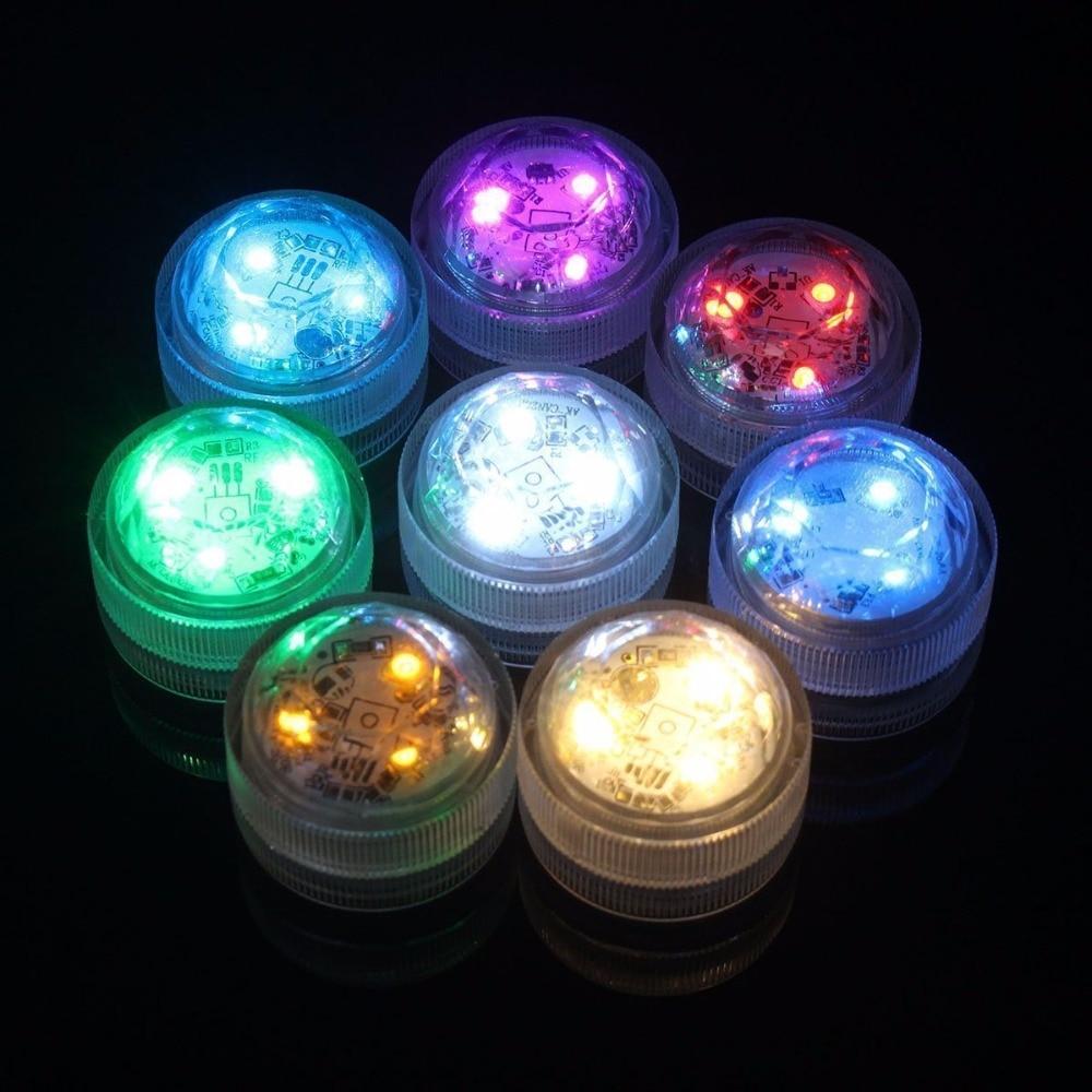 20 stk / lot LED Hvit nedsenkbar blomstervase Super Bright Bryllup - Ferie belysning - Bilde 5