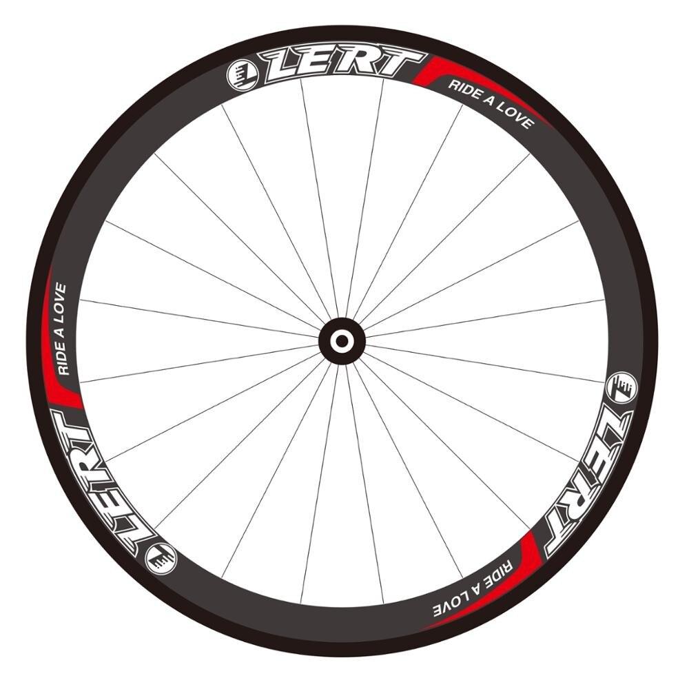 Date LERT 700C route vélo 3 K UD 12 K plein carbone fibre vélo roues 50mm tubulaire jante plaquettes de frein 20.5 23 25mm largeur livraison gratuite