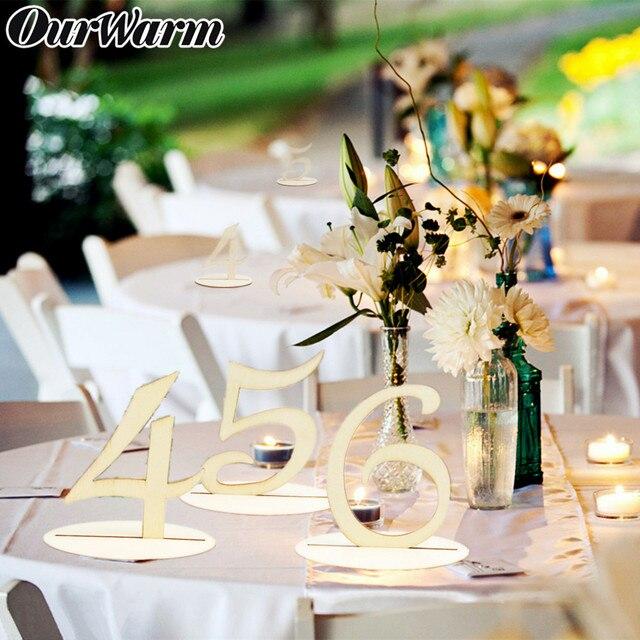 OurWarm 10 sztuk rustykalny ślub drewniany stół siedzenia karty uchwyt tabeli numer dla gości urodziny ślub dekoracja stołu na przyjęcie
