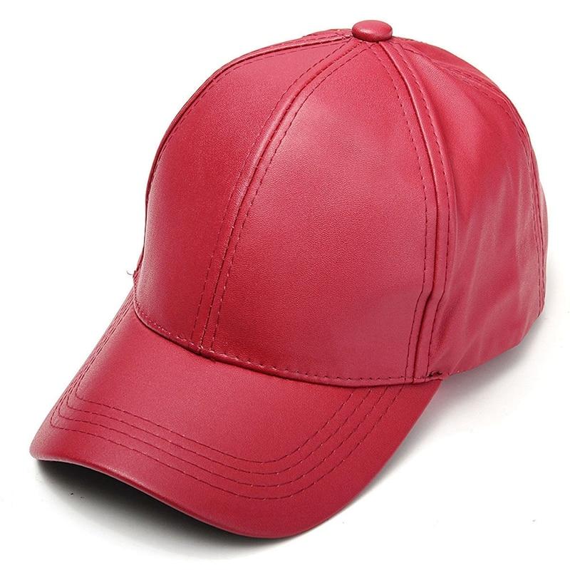 Hot Men Women Solid PU Snapback Cap Baseball Adjustable Sport Trucker Hat