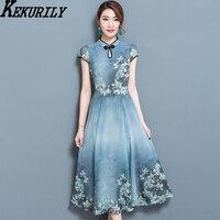 KEKURILY Render Dress Robe Noel Elegant Vintage Chiffon Party Dresses Plus Size Large 3xl Female Retro