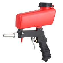 Portable Gravity Sandblasting Gun Pneumatic Small Sand Blasting Machine 90psi Adjustable Pneumatic Sandblasting Set