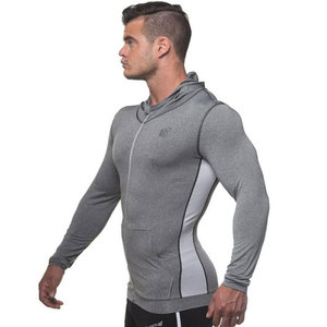 Image 3 - Men Bodybuilding Hoodie Gyms Fitness Tight Zipper Sweatshirt Man Autumn New Casual Hooded Jacket Male Jogger Workout Clothing