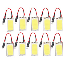 цена на 10pcs/set DC 12V Car Panel Light 6W 48SMD COB LED Car Interior Dome Reading Lamp Bulb Super White T10 Festoon Light