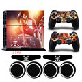 PS4 ONE PIECE Vinyl Anti-slip Skin Portective Host Sticker Decal &2 Gamepad Skins +Gifts For Playstation 4 Console Dualshock 4